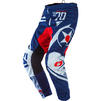 Oneal Element 2020 Warhawk Motocross Jersey & Pants Blue Red Kit Thumbnail 5