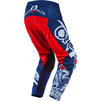 Oneal Element 2020 Warhawk Motocross Jersey & Pants Blue Red Kit Thumbnail 7