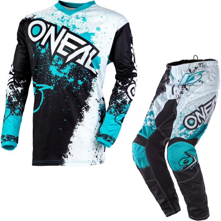 Oneal Element 2020 Impact Motocross Jersey & Pants Black Teal Kit