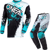 Oneal Element 2020 Impact Motocross Jersey & Pants Black Teal Kit