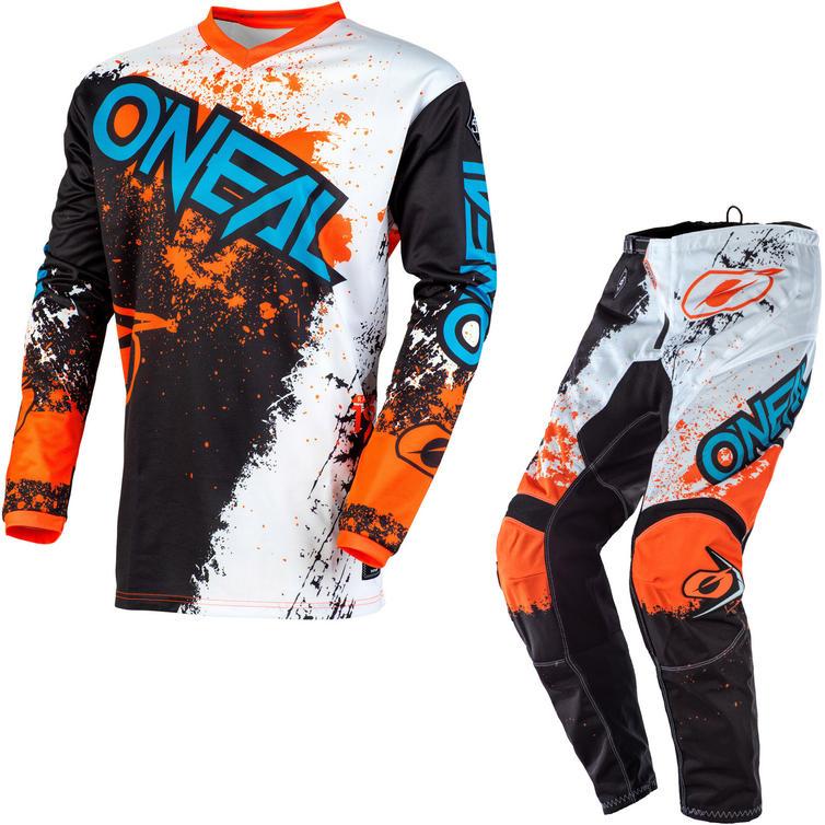 Oneal Element 2020 Impact Motocross Jersey & Pants Black Orange Kit