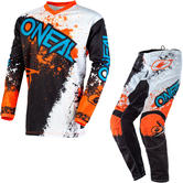 Oneal Element 2020 Impact Motocross Jersey & Pants Black Orange Kit