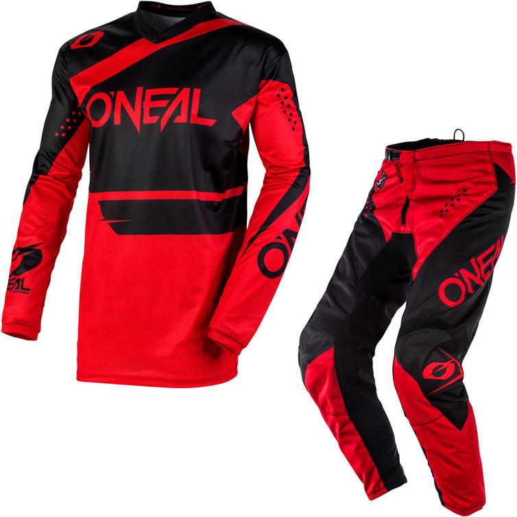Oneal Element 2020 Racewear Motocross Jersey & Pants Black Red Kit