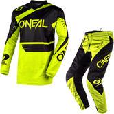 Oneal Element 2020 Racewear Motocross Jersey & Pants Black Neon Yellow Kit