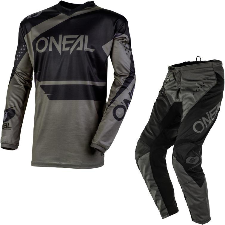 Oneal Element 2020 Racewear Motocross Jersey & Pants Black Grey Kit