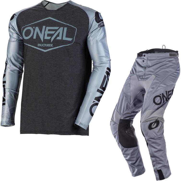 Oneal Mayhem 2020 Hexx Motocross Jersey & Pants Grey Black Kit