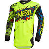 Oneal Element 2020 Villain Youth Motocross Jersey & Pants Neon Yellow Kit Thumbnail 4