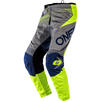 Oneal Element 2020 Factor Youth Motocross Jersey & Pants Grey Blue Neon Yellow Kit Thumbnail 5