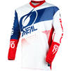 Oneal Element 2020 Factor Youth Motocross Jersey & Pants White Blue Red Kit Thumbnail 4