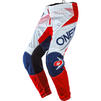 Oneal Element 2020 Factor Youth Motocross Jersey & Pants White Blue Red Kit Thumbnail 5