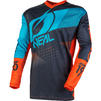 Oneal Element 2020 Factor Youth Motocross Jersey & Pants Grey Orange Blue Kit Thumbnail 4