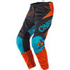 Oneal Element 2020 Factor Youth Motocross Jersey & Pants Grey Orange Blue Kit Thumbnail 5