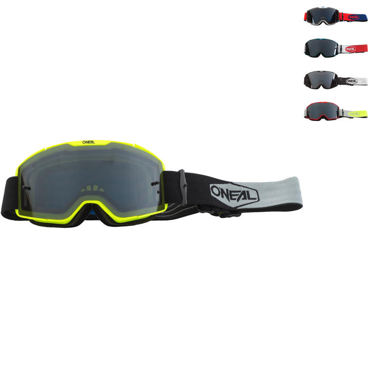 Oneal B-20 2020 Plain Grey Tinted Motocross Goggles