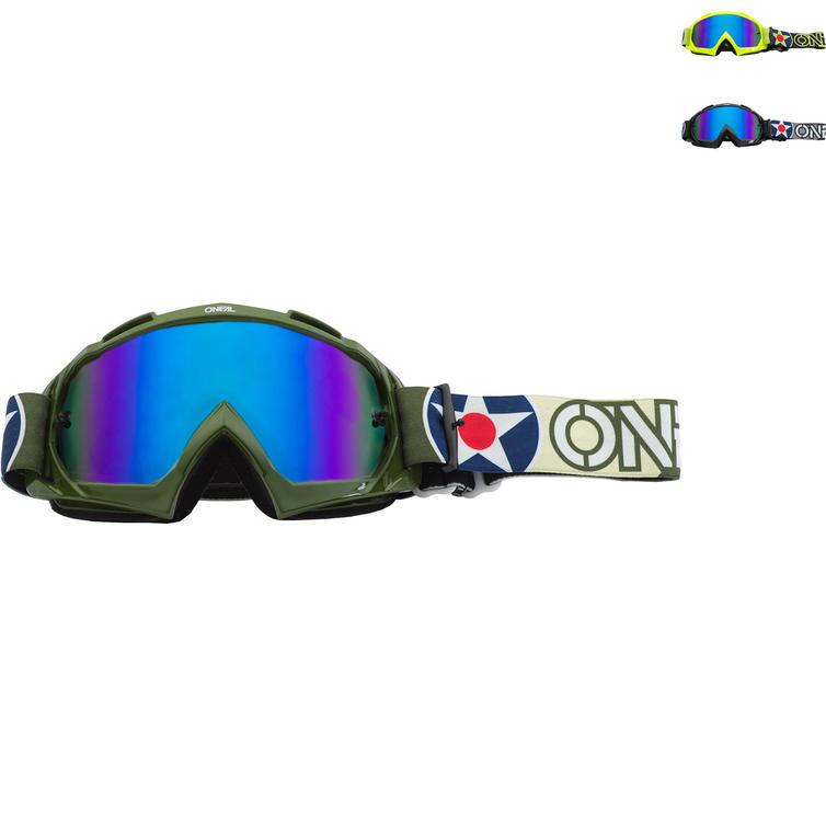 Oneal B-10 2020 Warhawk Radium Blue Motocross Goggles