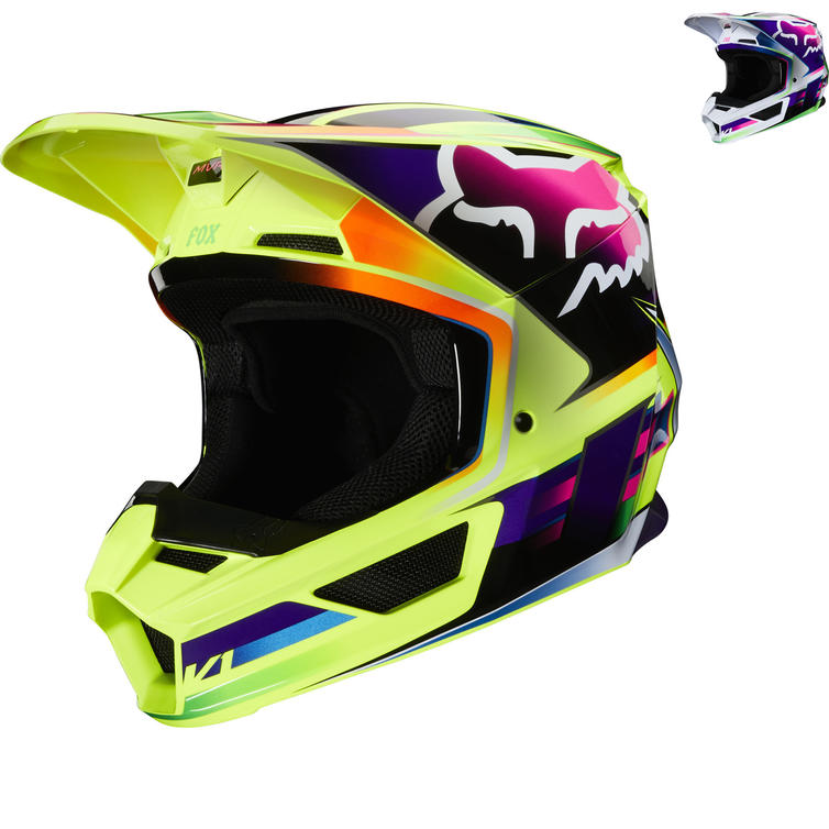 8275ae1cd450 Fox Racing 2020 V1 Gama Motocross Helmet