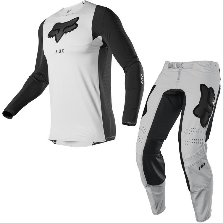 Fox Racing 2020 Flexair Dusc Motocross Jersey & Pants Light Grey Kit