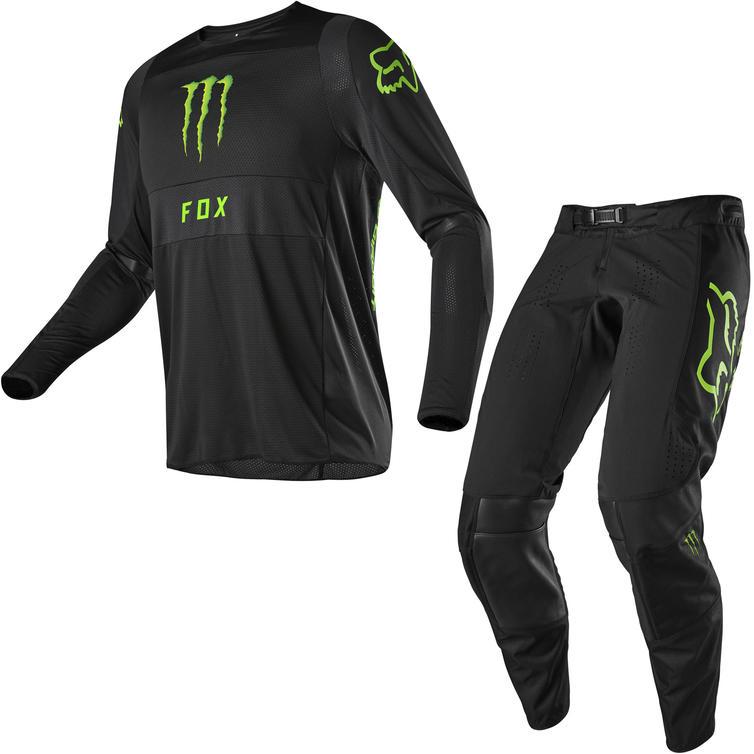 Fox Racing 2020 360 Monster/PC Motocross Jersey & Pants Black Kit