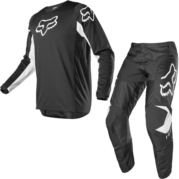 Fox Racing 2020 180 Prix Motocross Jersey & Pants Black White Kit