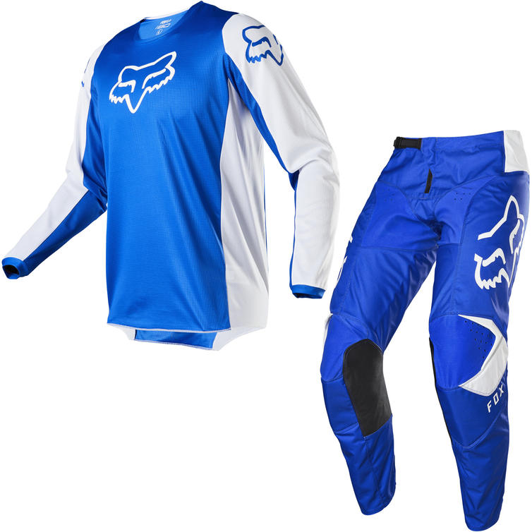 Fox Racing 2020 180 Prix Motocross Jersey & Pants Blue Kit