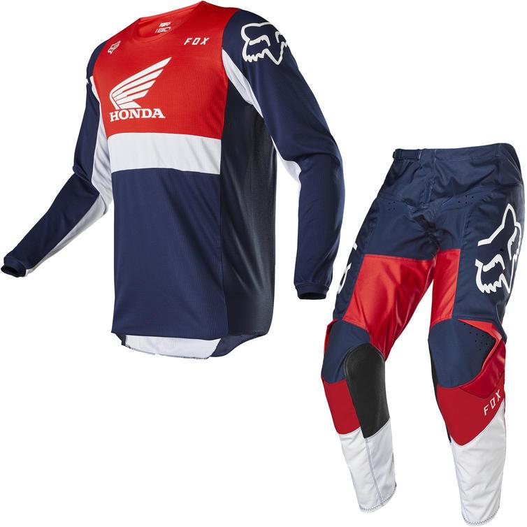 Fox Racing 2020 180 Honda Motocross Jersey & Pants Navy Red Kit