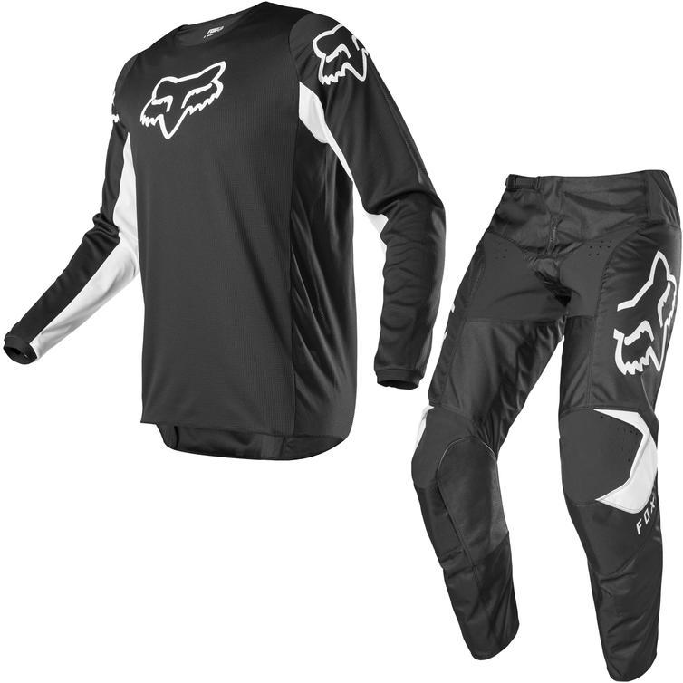 Fox Racing 2020 Youth 180 Prix Motocross Jersey & Pants Black White Kit