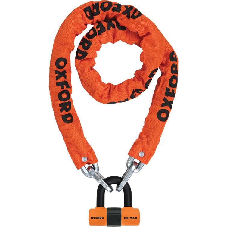 Oxford Heavy Duty Motorcycle Chain Lock 1.5m Chain & Lock Orange