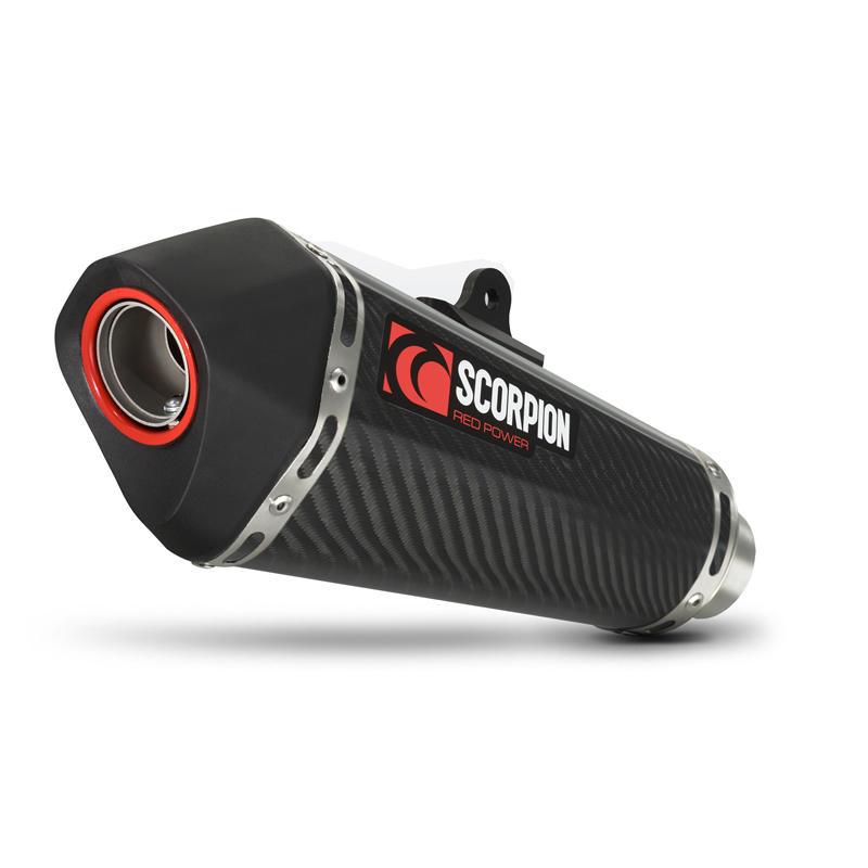 Scorpion Serket Taper Carbon Oval Exhaust Suzuki GSR 750 11>Current