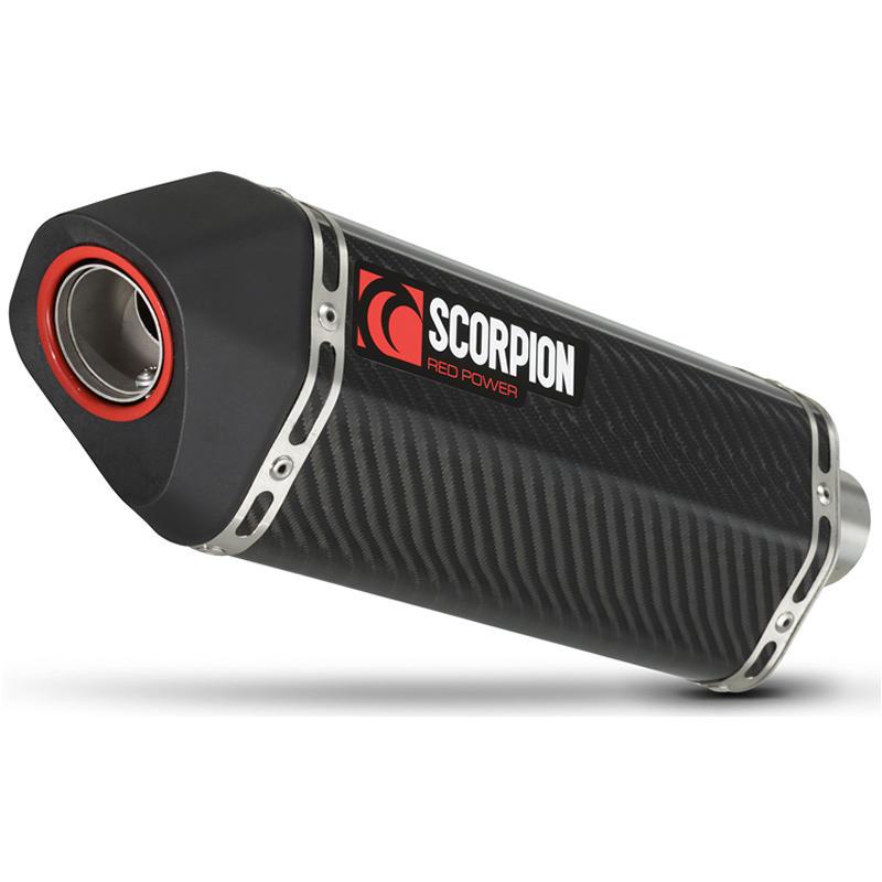 Scorpion Serket Carbon Oval Exhaust Triumph Street Triple 07-11