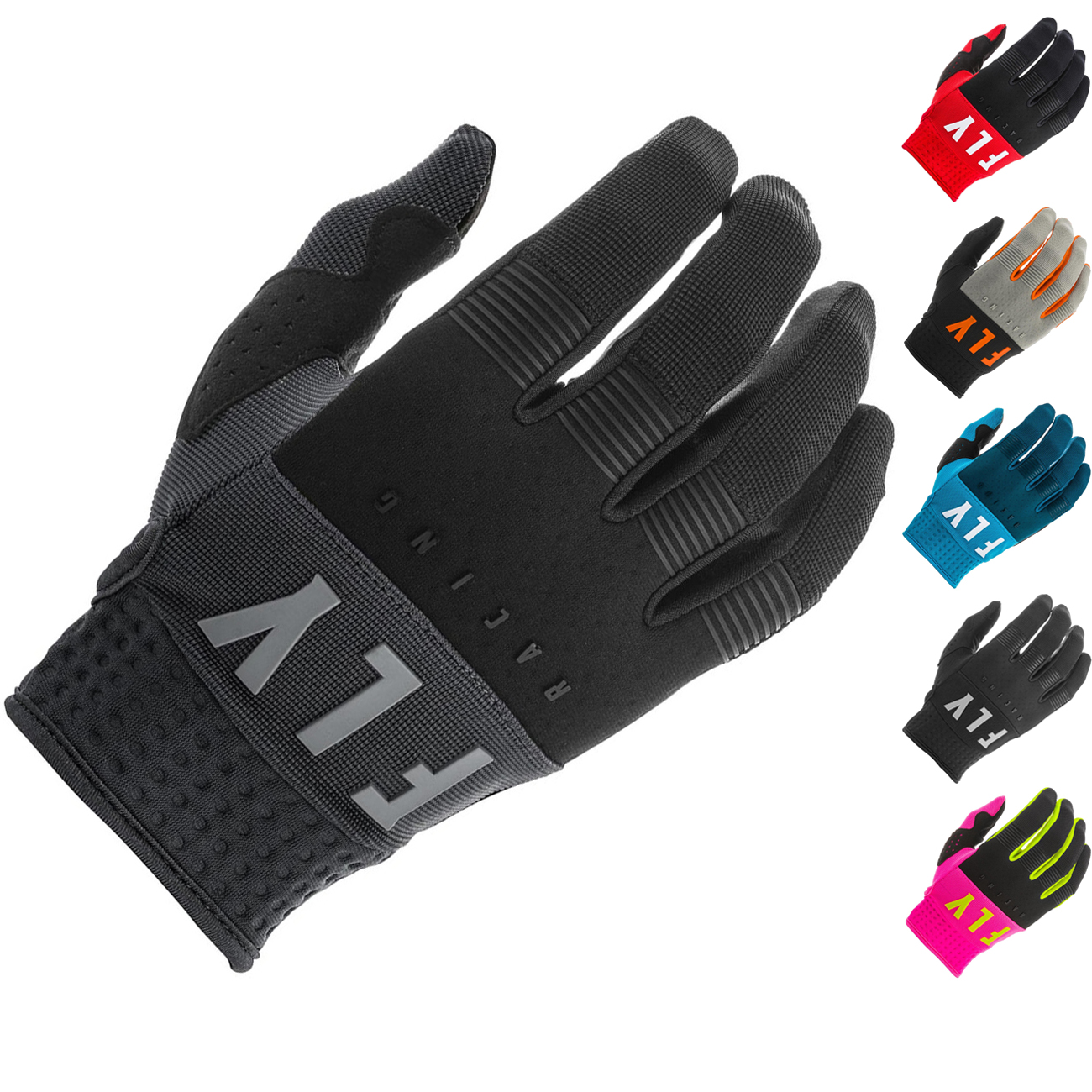 Padded Palm Silicone Grip Reinforced Thumb FLY Racing Youth F-16 Gloves Protective Neoprene Motorcycle Hand Gear