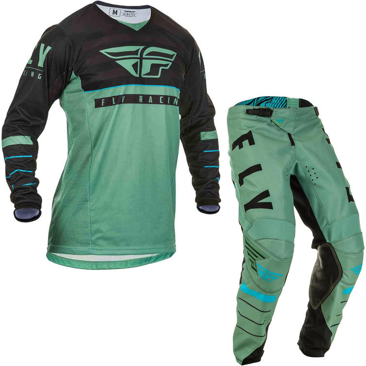 Fly Racing 2020 Kinetic K120 Motocross Jersey & Pants Sage Green Black Kit
