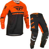 Fly Racing 2020 Kinetic K120 Motocross Jersey & Pants Orange Black White Kit