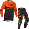 Fly Racing 2020 Kinetic K120 Motocross Jersey & Pants Orange Black White Kit Thumbnail 1