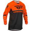 Fly Racing 2020 Kinetic K120 Motocross Jersey & Pants Orange Black White Kit Thumbnail 4