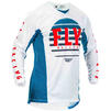Fly Racing 2020 Kinetic K220 Motocross Jersey & Pants Blue White Red Kit Thumbnail 4