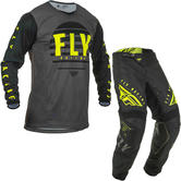 Fly Racing 2020 Kinetic K220 Motocross Jersey & Pants Black Grey Hi-Vis Kit