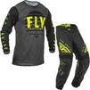 Fly Racing 2020 Kinetic K220 Motocross Jersey & Pants Black Grey Hi-Vis Kit Thumbnail 2