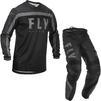 Fly Racing 2020 F-16 Motocross Jersey & Pants Black Grey Kit Thumbnail 2