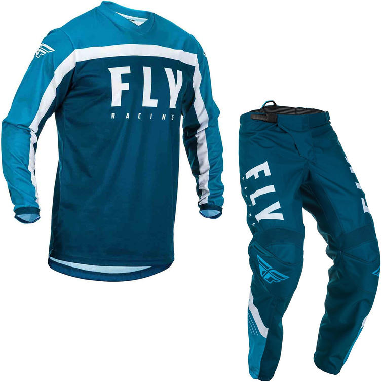 Fly Racing 2020 F-16 Motocross Jersey & Pants Navy Blue White Kit