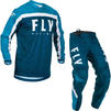 Fly Racing 2020 F-16 Motocross Jersey & Pants Navy Blue White Kit Thumbnail 1