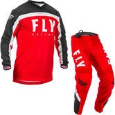 Fly Racing 2020 F-16 Motocross Jersey & Pants Red Black White Kit