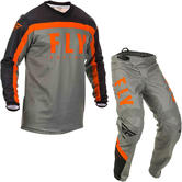 Fly Racing 2020 F-16 Motocross Jersey & Pants Grey Black Orange Kit