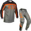 Fly Racing 2020 F-16 Motocross Jersey & Pants Grey Black Orange Kit Thumbnail 1