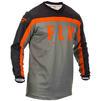 Fly Racing 2020 F-16 Motocross Jersey & Pants Grey Black Orange Kit Thumbnail 4