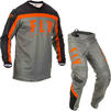 Fly Racing 2020 F-16 Motocross Jersey & Pants Grey Black Orange Kit Thumbnail 3