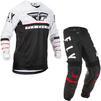 Fly Racing 2020 Kinetic K120 Youth Motocross Jersey & Pants Black White Red Kit Thumbnail 1