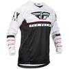 Fly Racing 2020 Kinetic K120 Youth Motocross Jersey & Pants Black White Red Kit Thumbnail 4