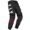 Fly Racing 2020 Kinetic K120 Youth Motocross Jersey & Pants Black White Red Kit Thumbnail 7