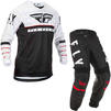 Fly Racing 2020 Kinetic K120 Youth Motocross Jersey & Pants Black White Red Kit Thumbnail 3