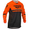 Fly Racing 2020 Kinetic K120 Youth Motocross Jersey & Pants Orange Black White Kit Thumbnail 4