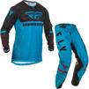 Fly Racing 2020 Kinetic K120 Youth Motocross Jersey & Pants Blue Black Red Kit Thumbnail 2